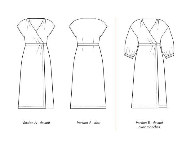 Dessins techniques de la robe PEMA