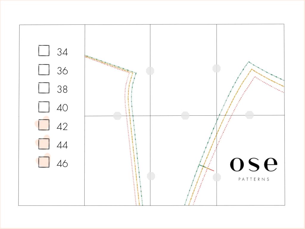 OSE PATTERNS - calques de sélection des tailles