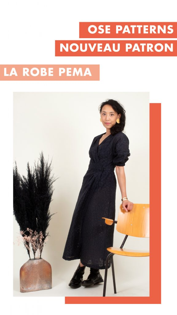Robe PEMA Ose Patterns - Version B - Vue devant