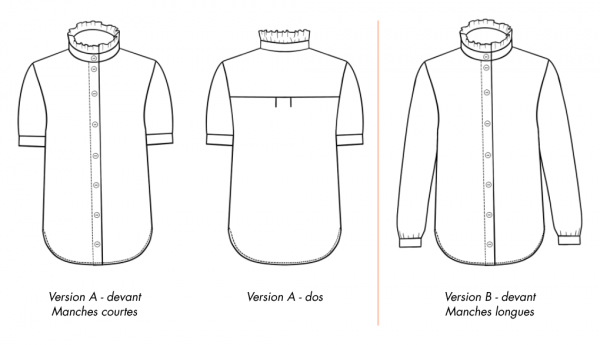 Ose Patterns - Technical drawing - Kim Top