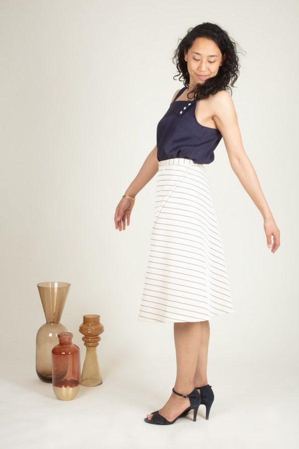 Jupe Kia - Une jupe pour apprendre à coudre dans le biais