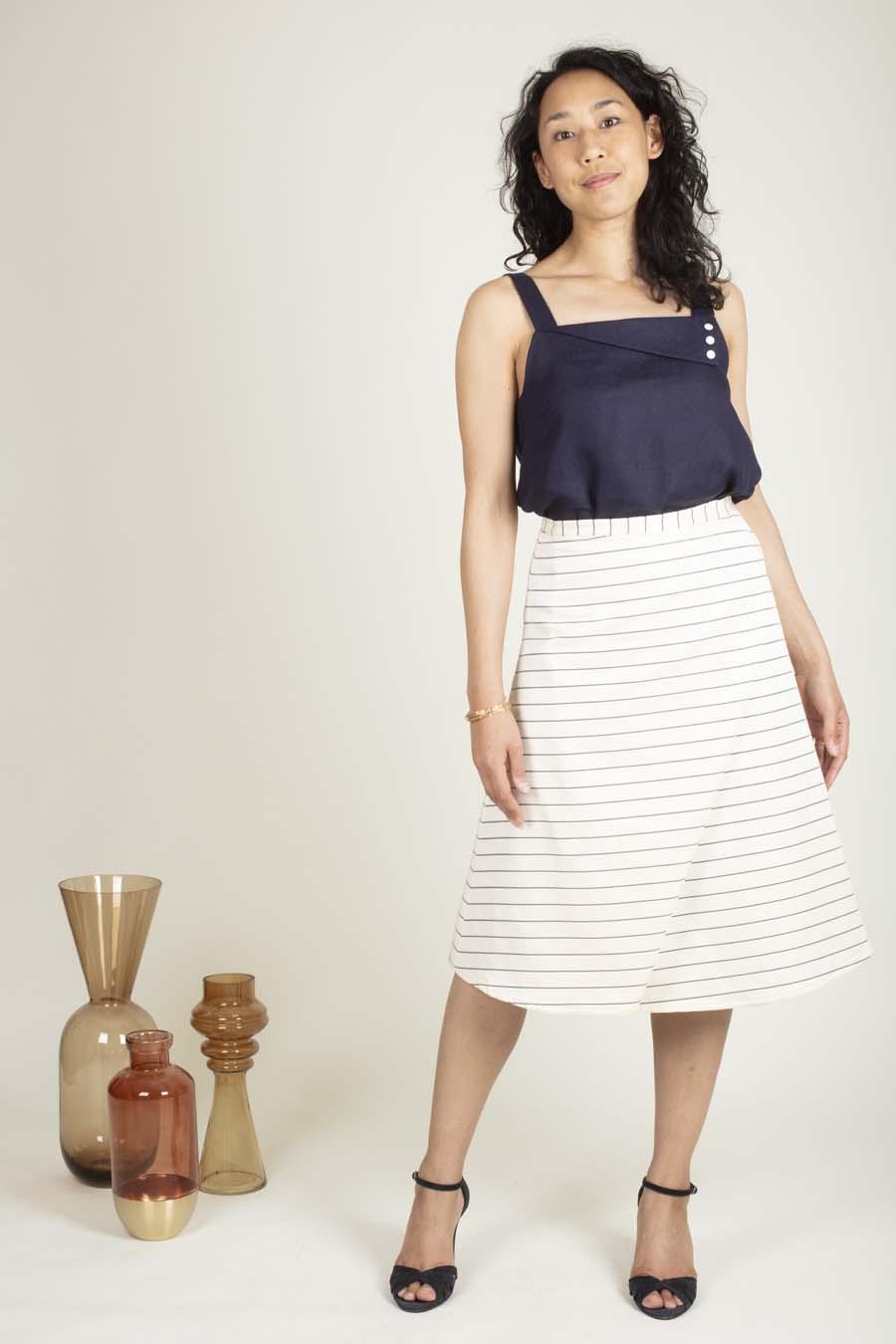 Haut Brené et jupe KIA - patron de couture été - Ose Patterns