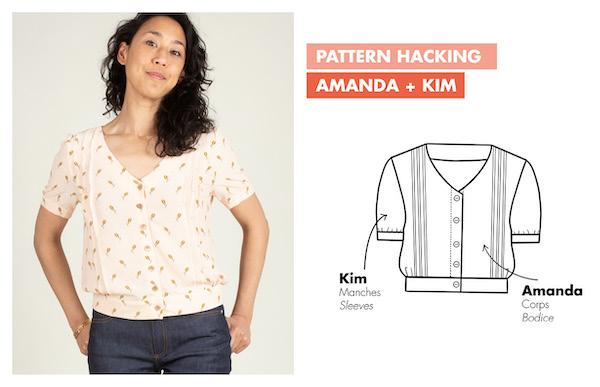 Elegant blouse sewing pattern - Ose Patterns